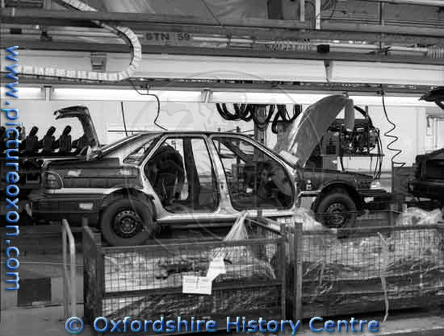 Rover car factory works in Cowley, before the demolition of the north and south works