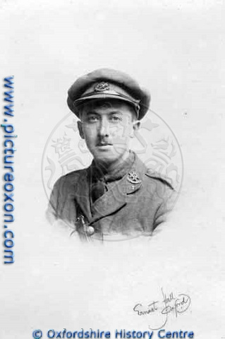 Photograph of R. A. Abrams, former pupil of the Oxford High School, 1900 to 1903, and Lieutenant, 8th Sherwood Foresters, killed in action at Gommecourt, on March 4th, 1917