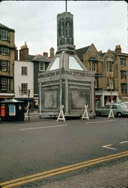 Oxford. Broad Street, looking South with Carfax Conduit Model.