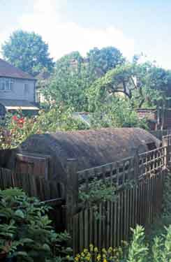No. 100 Second World War air raid shelter in back garden
