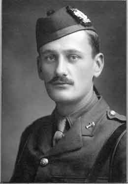 Photograph of S. A. White, former pupil of the Oxford High School, 1898 to 1905 and Captain and Adjutant, Northumberland Fusiliers, killed in action on July 1st, 1916