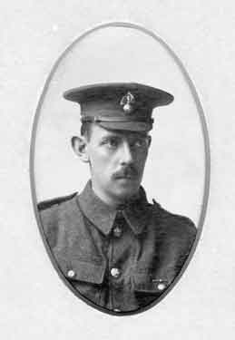 Photograph of W. D. Holiday, former pupil of the Oxford High School, 1902 to 1905 and Private, 26th Royal Fusiliers, Bankers Batt., killed in action in France, on October 6th, 1916
