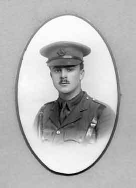 Photograph of F. J. Griffin, former pupil of the Oxford High School, 1908 to 1914 and Captain, 1st Oxford and Bucks Light Infantry, died of wounds in Mesopotamia, on March 26th, 1918