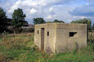 Second World War pill box east of railway line