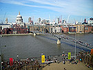 The Thames seen from the Tate Modern building, London.